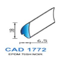CAD1772N Profil EPDM   70 SH Noir   Vendu au Mètre