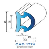 CAD1774N Profil EPDM   70 SH Noir