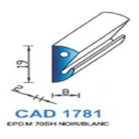 CAD1781B Profil EPDM   70 SH Blanc