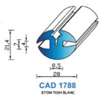 CAD1788B Profil EPDM   70 SH Blanc