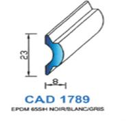 CAD1789G Profil EPDM   65 SH Gris