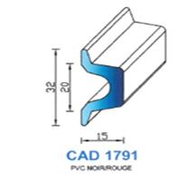 CAD1791N Profil PVC   Noir