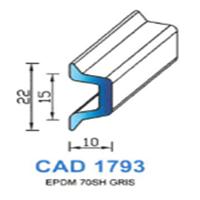 CAD1793G Profil EPDM   70 SH Gris