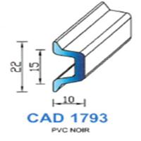 CAD1793R Profil EPDM   70 SH Rouge