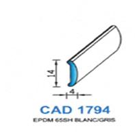 CAD1794B Profil EPDM   65 SH Blanc