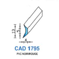 CAD1795N Profil PVC   Noir