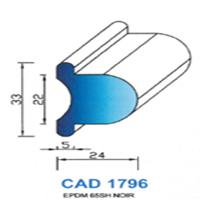 CAD1796G Profil EPDM   65 SH Gris