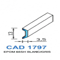 CAD1797B Profil EPDM   65 SH Blanc