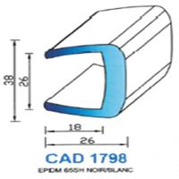 CAD1798B Profil EPDM   65 SH Blanc