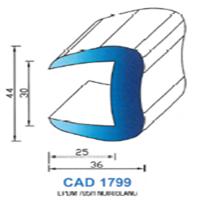 CAD1799N Profil EPDM   70 SH Noir