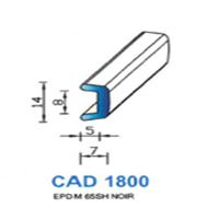 CAD1800N Profil EPDM   65 SH Noir   Vendu au Mètre