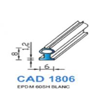 CAD1806B Profil EPDM   60 SH Blanc