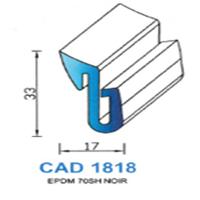 CAD1818N Profil EPDM   70 SH Noir