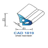 CAD1819N Profil EPDM   70 SH Noir