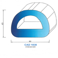CAD1838N Profil EPDM   50 SH Noir