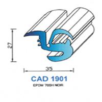 CAD1901N Profil EPDM   70 SH Noir
