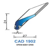 CAD1902G Profil EPDM   60 SH Gris