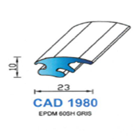CAD1980G Profil EPDM   60 SH Gris