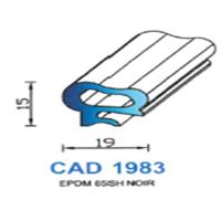 CAD1983N Profil EPDM   65 SH Noir