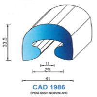 CAD1986B Profil EPDM   65 SH Blanc