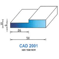 CAD2001N Profil NBR   75 SH Noir