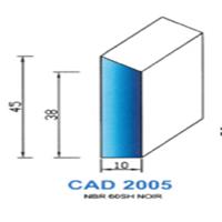 CAD2005N Profil NBR   60 SH Noir