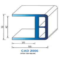 CAD2006B Profil EPDM   70 SH Blanc