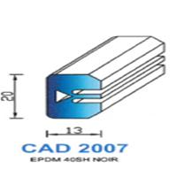 CAD2007N Profil EPDM   40 SH Noir