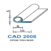 CAD2008N Profil EPDM   70 SH Noir