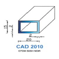CAD2010N Profil EPDM   50 SH Noir