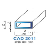 CAD2011N PROFIL EPDM - 50SH - NOIR