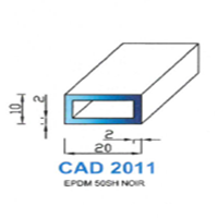 CAD2011N Profil EPDM   50 SH Noir