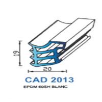 CAD2013B Profil EPDM <br /> 60 SH Blanc<br />