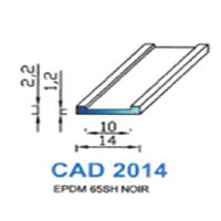CAD2014N Profil EPDM   65 SH Noir