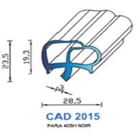 CAD2015N Profil PARA <br /> 40 SH Noir<br />