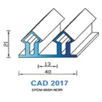 CAD2017N Profil EPDM <br /> 65 SH Noir <br /> Vendu au Mètre<br />