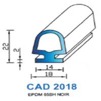 CAD2018N Profil EPDM   85 SH Noir