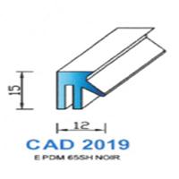 CAD2019N Profil EPDM   65 SH Noir
