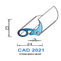 CAD2021N Profil EPDM   65 SH Noir