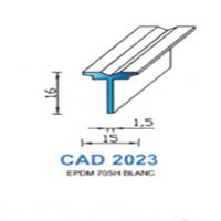 CAD2023B Profil EPDM   70 SH Blanc