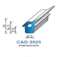 CAD2025N Profil EPDM   60 SH Noir   Vendu au Mètre