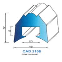 CAD2108B Profil EPDM   70 SH Blanc