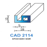 CAD2114N Profil EPDM   60 SH Noir