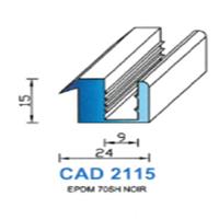 CAD2115N Profil EPDM   70 SH Noir