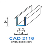CAD2116N Profil EPDM   60 SH Noir