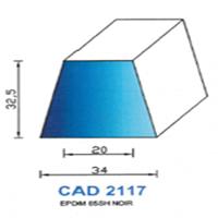 CAD2117N Profil EPDM <br /> 65 SH Noir<br />