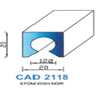CAD2118N Profil EPDM   65 SH Noir