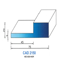 CAD2150N Profil NEO   60 SH Noir