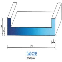 CAD2205N Profil EPDM   70 SH Noir