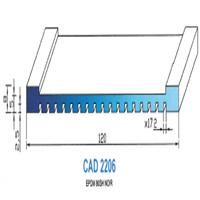 CAD2206N Profil EPDM   80 SH Noir
